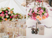 Beautiful wedding floral centrepieces by The French Touch